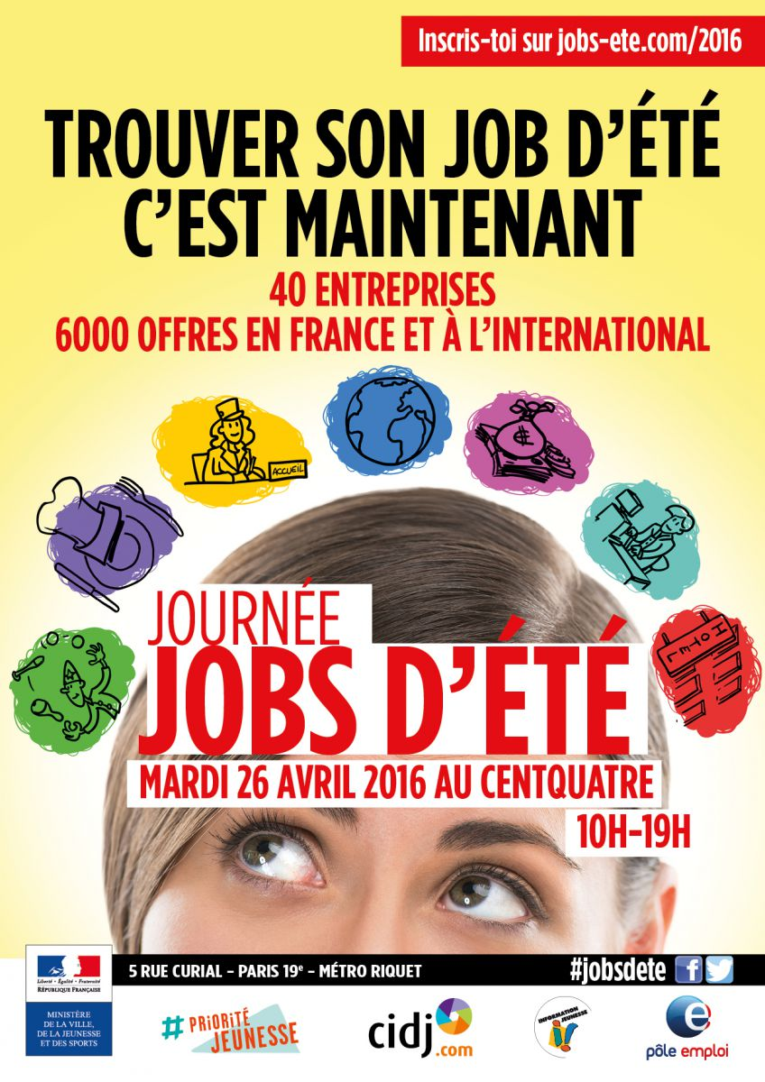 Journ e job d 39 ete du cidj - Salon job d ete lille ...