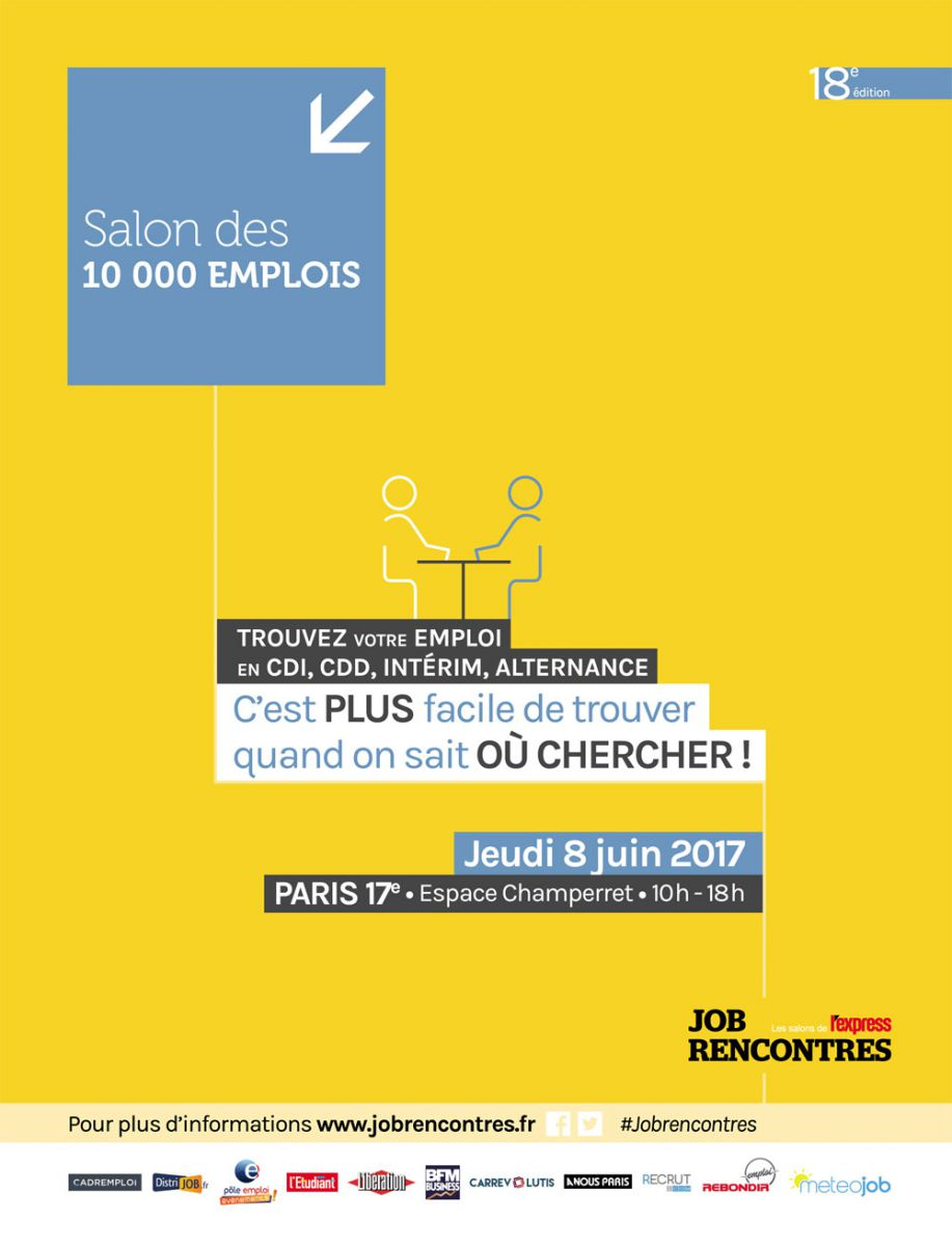 Salon des 10 000 emplois for Salon recrutement 2017